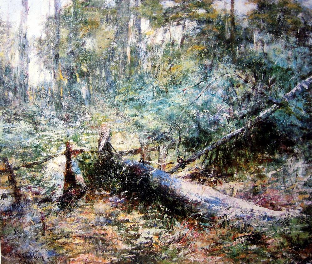 Frederick McCubbin At Macedon Oil on canvas 51.8 x 61.2 cm