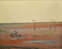 Fred Williams Burnt Grass 1 (later titled Ploughed Paddock) Oil on canvas 120 x 151 cm